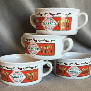 Tabasco Soup Bowls Mc Ilhenny Co. Pepper Sauce